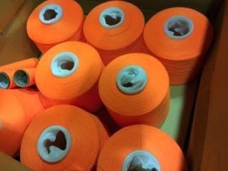 蛍光糸オレンジ